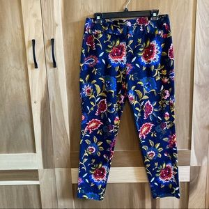 Old Navy pixie ankle crop floral pants size 10